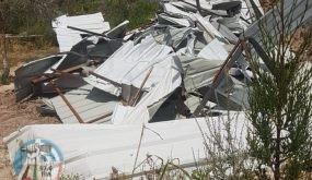 محدث) الاحتلال يهدم منشأتين سياحيتين في نابلس