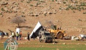 الاحتلال يهدم حظائر ماشية ويستولي على خطوط مياه في الأغوار الشمالية