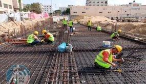 الإحصاء: انخفاض مؤشر أسعار تكاليف البناء والطرق وشبكات المجاري