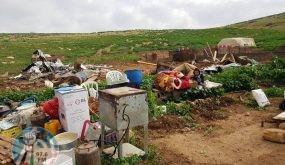 الاحتلال يهدم منشأة زراعية شرق طوباس