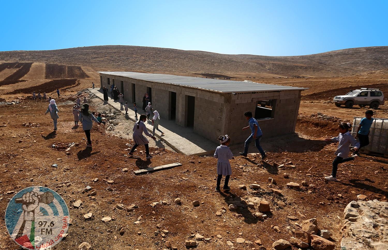 الاحتلال يهدم مدرسة ممولة من الإتحاد الأوروبي شرق رام الله