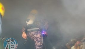 الدفاع المدني يخلي 3 مواطنين ويخمد حريقا في رام الله