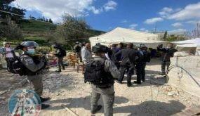 الاحتلال يهدم خيمة مأوى عائلة عليان في العيسوية مجددا