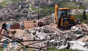 الاحتلال يهدم غرفتين في بلدة بتير غرب بيت لحم