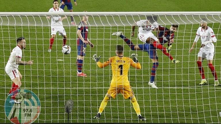 برشلونة يتأهل لنهائي كأس ملك إسبانيا حساب إشبيلية