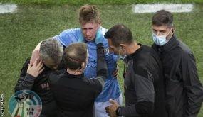 نهائي دوري أبطال أوروبا: كيفين دي بروين يُصاب بكسر في الأنف ومحجر العين