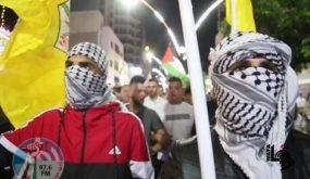 """""""فتح"""" تدعو للخروج بمسيرات غضب في كل المدن والقرى والمخيمات واستمرار حالة الاستنفار"""